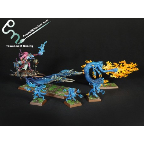 Chaos Daemons Herald of Tzeentch on Burning Chariot / Burning Chariot of Tzeentch (1 figure)
