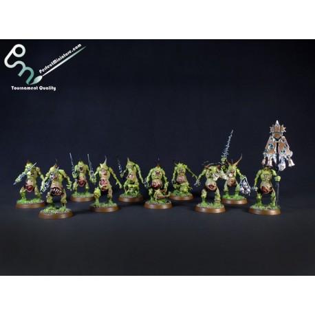 Chaos Daemons Plaguebearers of Nurgle (10 figures)