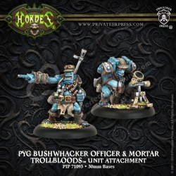 Pyg Bushwhacker Officer & Mortar (2 miniatures)